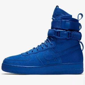NWOB NIKE SF AF1 Blue Suede Basketball Shoes